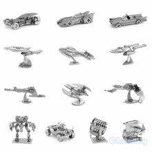 3D Metal Puzzle of Batman/Star Trek Assemble 3D Nano Jigsaw DIY Model Kits From Laser Cut Metal Sheets for Kids Educational Toys