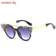 2017 Fashion Big Frame Sunglasses Women Brand Designer Vintage Rivet Shades Female Sun Glasses Oculos Sol Feminino Original box