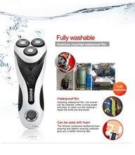Новый 2016 POVOS PQ8602 электрическая бритва для мужчин мужской ротари бритвы для бритья триммер трехместный лезвие моющиеся жк-ес / сша штекер
