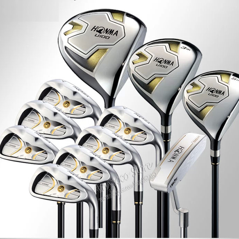 New Golf clubs HONMA U100 Complete clubs set Clubs Driver+Fairway wood+irons+putter Graphite Golf shaft golf set Free shipping free shipping pgm mens golf clubs complete set of graphite shaft with standard bag titanium alloy for rod
