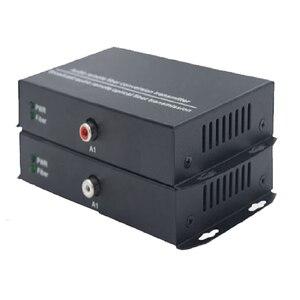 Image 4 - 4ch RCA audio a fibra óptica Digital audio convertidor estéreo Audio sobre fibra óptica extensor Convertidor para sistema de radiodifusión