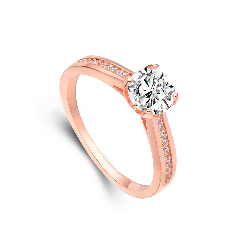 hhyde hot sale nice gold color ring round huge white cubic zirconia crystal rings rose gold wedding rings for women size 7 8 9