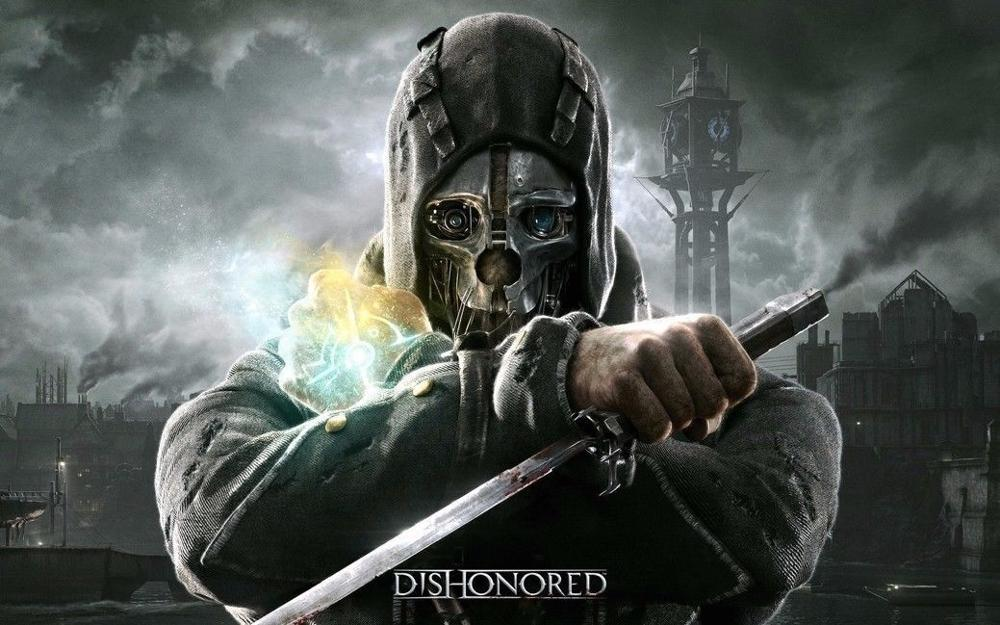 N1407 Dishonored Game Wall Sticker Silk Fabric Poster Art Indoor Decor Bright