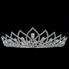 Big Size Royal Wedding Bride Crown Tiara Hair Accessories Jewelry Pageant Genuine Austrian Crystals SHA8775