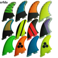 srfda SURF fins for FCSII box with fiberglass honey comb material for surfing (three set) size G5/MSUP Surfboard Fins