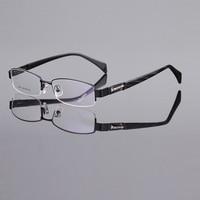 2016 New Test Limited Promotion Of Pure Titanium Business Comfortable Super Light Half Frame Myopia Glasses