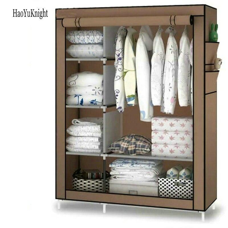 Wardrobe DIY Non-woven Fold Portable Storage Cabinet Multifunction Dustproof Moistureproof Closet Armario Portatil