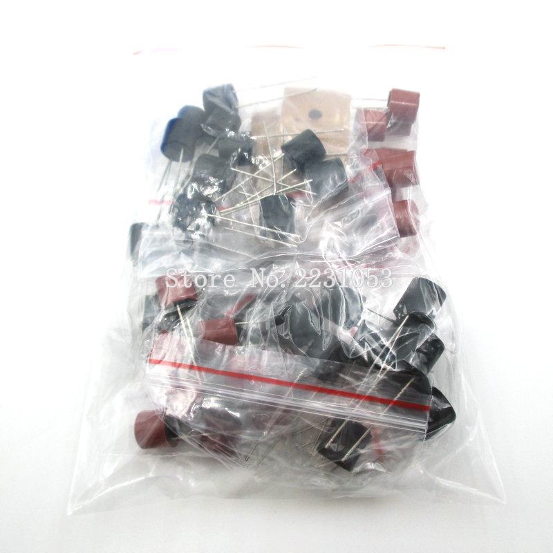 50PCS/LOT Cylindrical Fuses Kit T2A T3.15A T4A T5A T6.3A 250V SR-5 2Pin Fuse Assortment Kit 5Kinds Each 10PCS