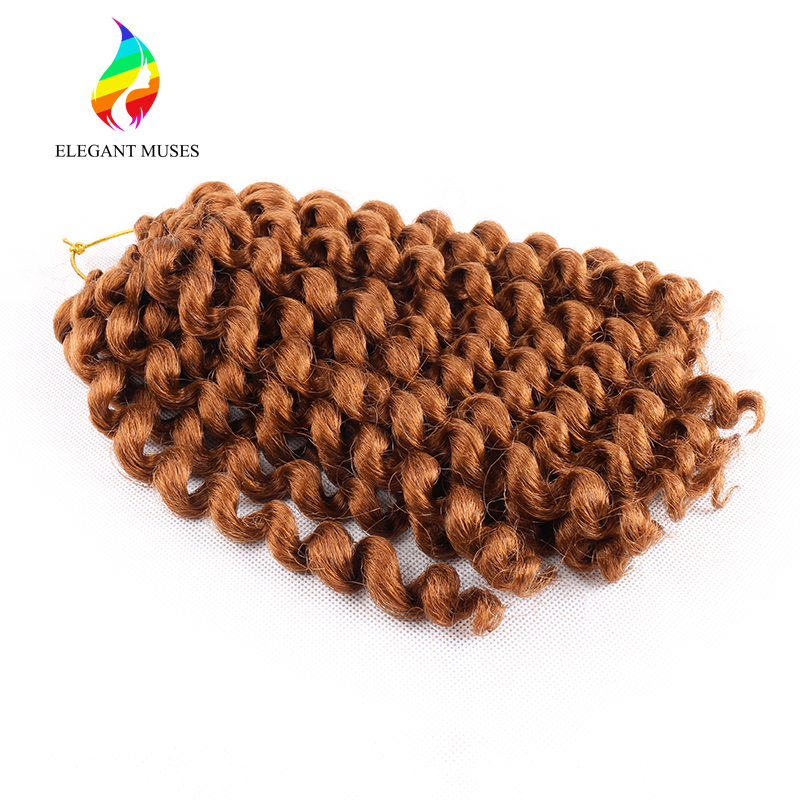 Bling Hair Wand Curl 10 Inches Crochet Braids Hair Synthetic Twist Braids Hair Extension ...