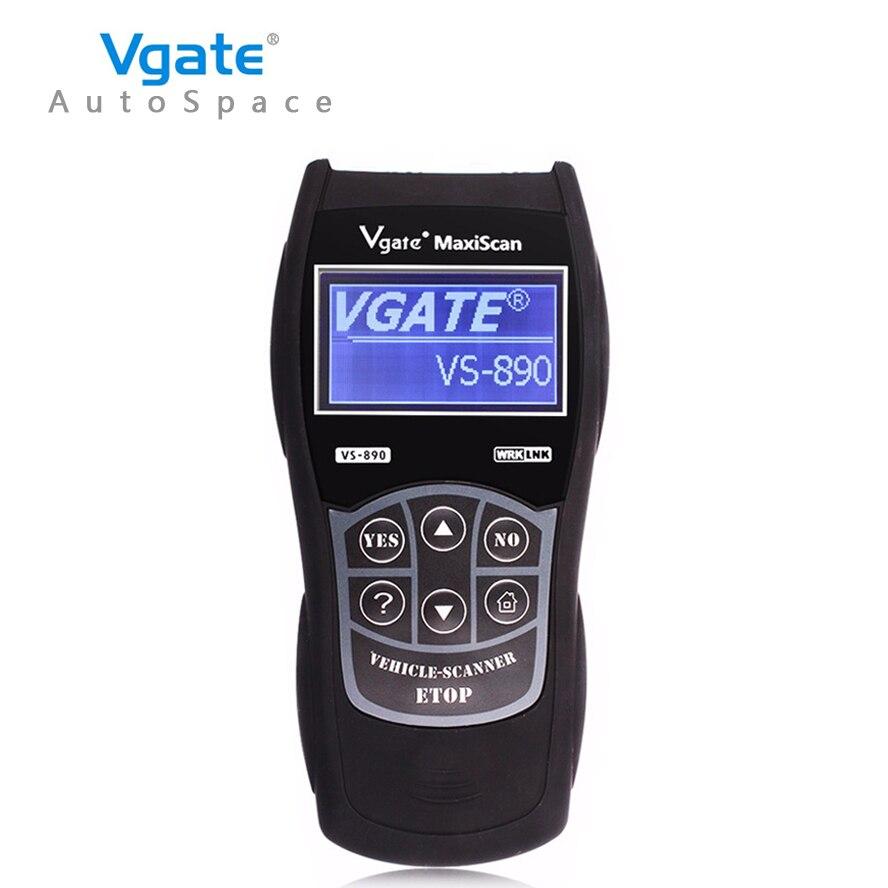 Prix pour D'origine Vgate Maxiscan VS890 Universal Auto OBD2 Scanner pour L'essence Diesel De Voiture Lecteur de Code de Diagnostic De Numérisation-Outil OBD 2 OBDII Chaude