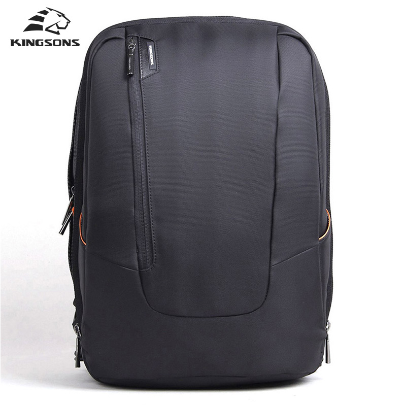 Kingsons 15.6 inch Candy Black Laptop Backpack Man Daily Rucksack Travel Bag School Bags Women Bagpack travel bag kingsons 2017 large capacity 15 6 inch laptop backpack men business bag women school travel rucksack high quality daily pack