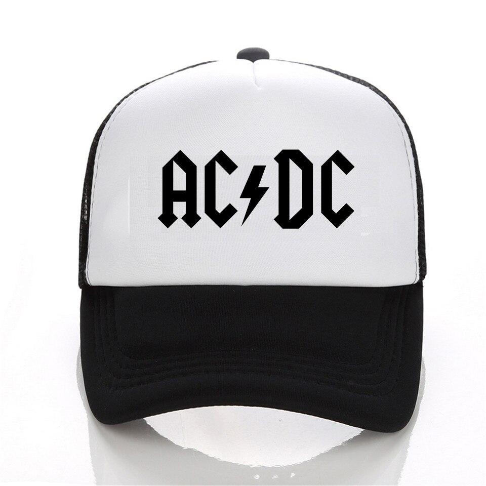 ACDC band Trucker Cap Fashion Men Women Baseball cap Summer Adjustable Snapback Hat