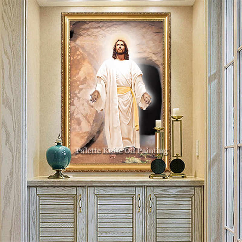 Jezus Christus Jezus Canvas Posters en Prints Wall Art Pictures voor woonkamer Home Decor cuadros decoracion olieverf 97