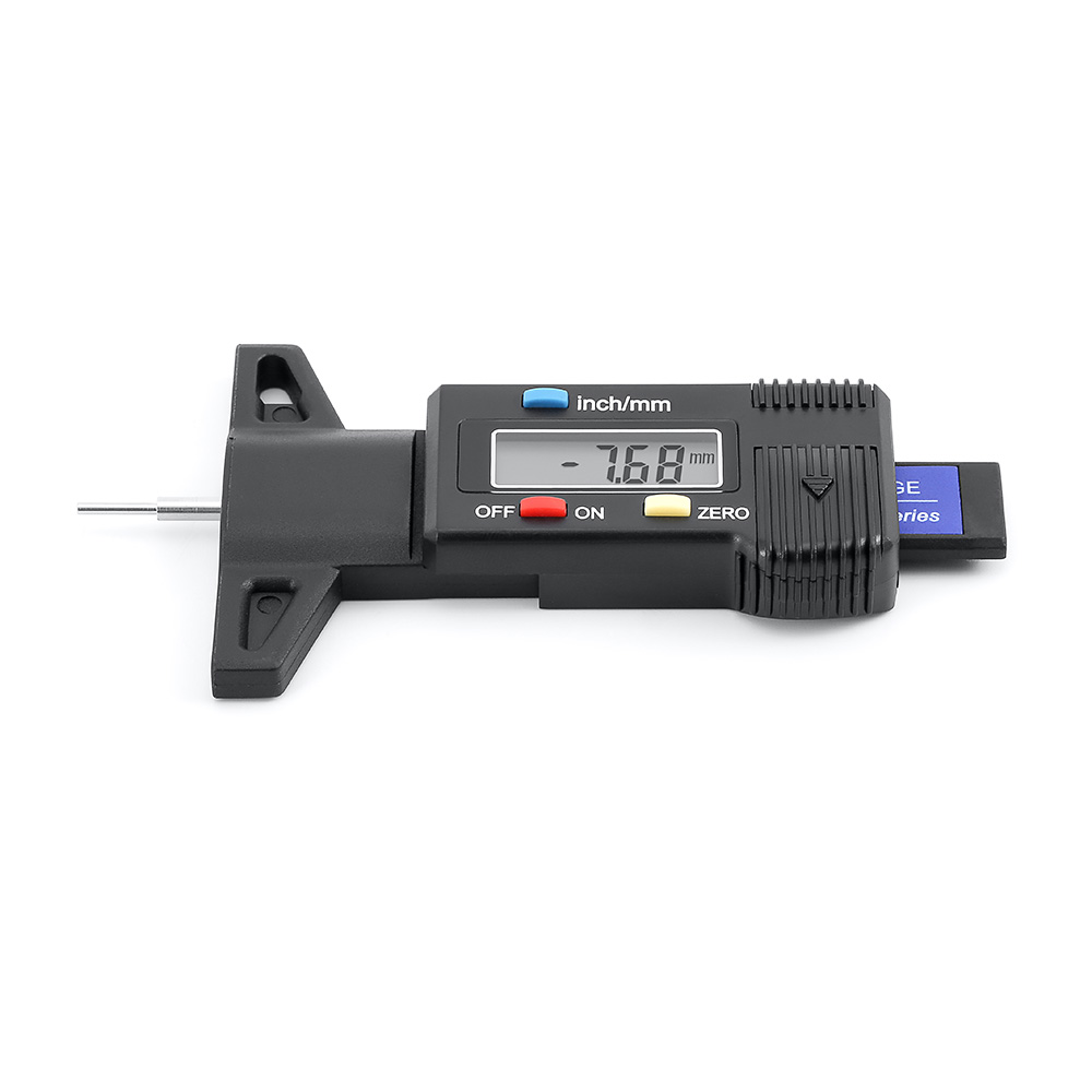 1 Piece Car Digital Tester Brake Shoe Pad Tire Pressure Gauge Depth Tester Guage Tire Pressure Measurement Tire Repair Tools