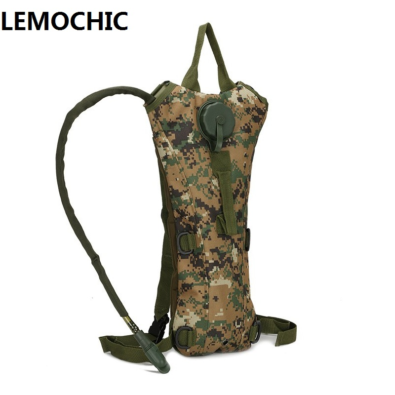 3L Tactical Backpack Water Bag Hydration Bottle Pouch Bag for Camping Hiking