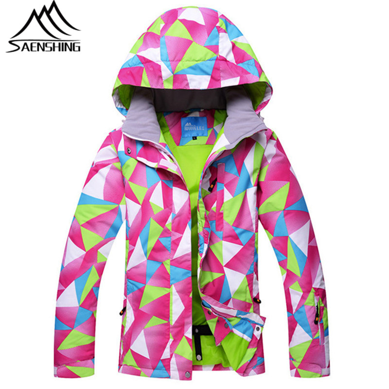 SAENSHING Ladies Women Waterproof Ski Jacket Snowboard Coat Thermal Breathable Winter Girls Snow Jacket Outdoor Ski Clothing hot sale women ladies snowboard jacket waterproof breathable ski jacket female winter snow coat sport motorcycle anorak clothes