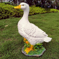 Modell Harz Künstliche Ente Garten Skulptur Hause Ornamente Statuen Realistische Outdoor Simulation Teich Decor Landschaft Handwerk-in Garten Statuen & Skulpturen aus Heim und Garten bei