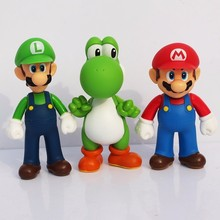 Hot ! Mario 12cm Super bro Luigi Fire Action Figure Collection Toy Dolls 5 Styles Model Gift Toys For Children
