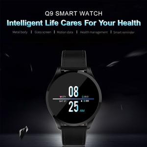 Image 2 - Q9 montre intelligente hommes étanche Message rappel dappel Smartwatch femmes moniteur de fréquence cardiaque mode bracelet Fitness Tracke.