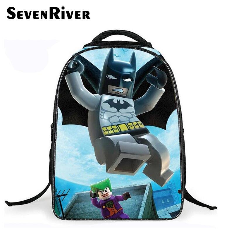 5eea3cd337 Elementare Batman Zaino della Scuola Per I Bambini Del Fumetto Dei Bambini  Del Sacchetto di Scuola