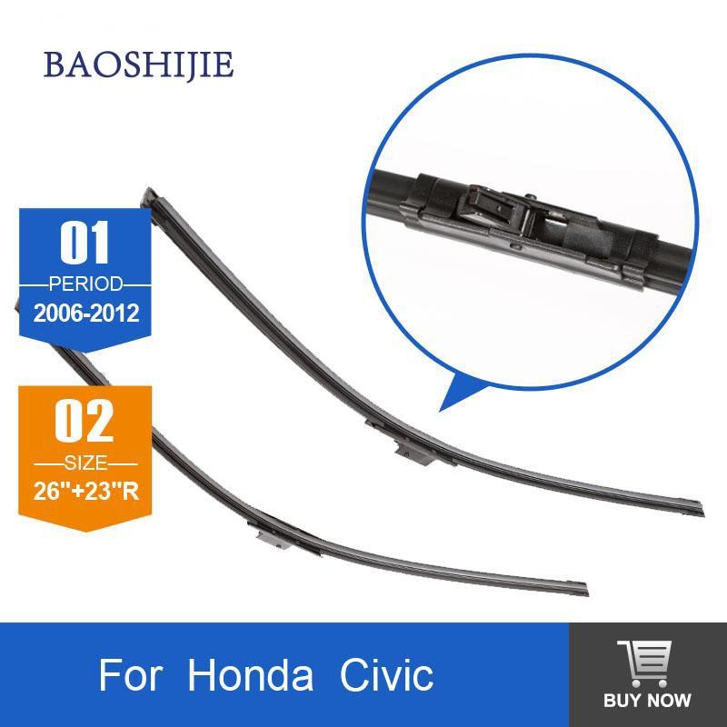 Wiper blade for font b Honda b font Civic 2006 2012 26 23 R rubber Bracketless