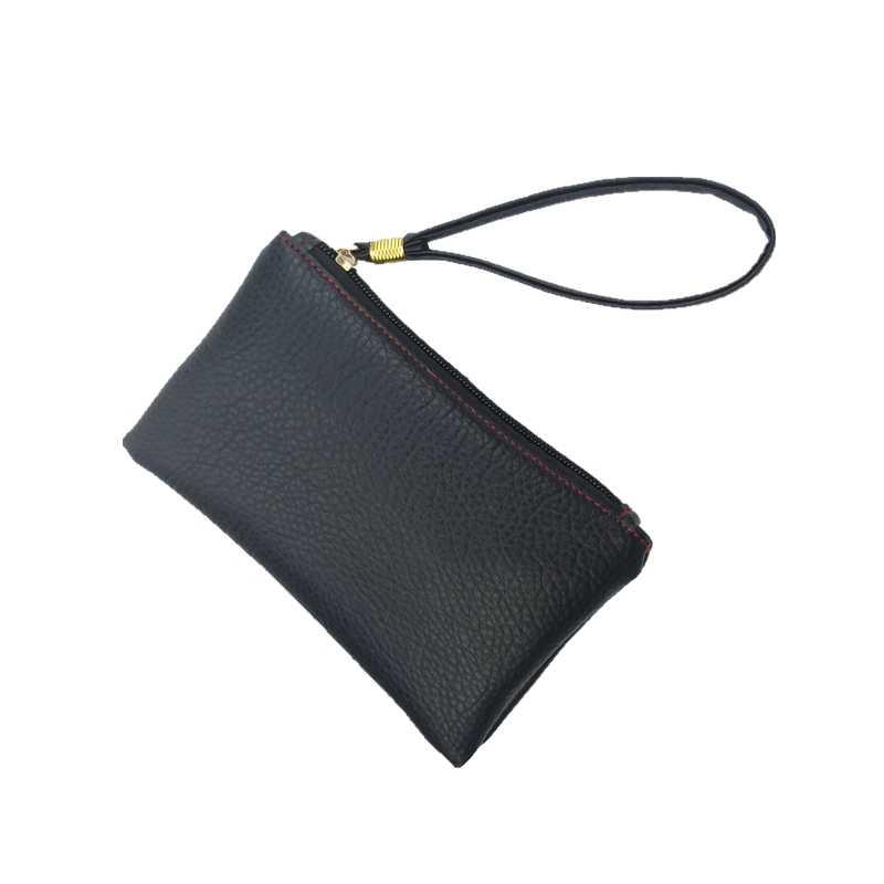 2018 Mới Thời Trang Người Đàn Ông Rắn Phụ Nữ Ví Móc Chìa PU Leather Handy Bag Dây Kéo Ly Hợp Coin Purse Điện Thoại Chủ Mini Vòng Tay túi xách