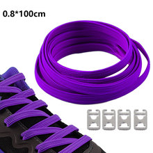 1Pair  Fashion New Men Women Shoestrings Elastic Flat Shoelaces Candy Color Casual Style Shoes Laces