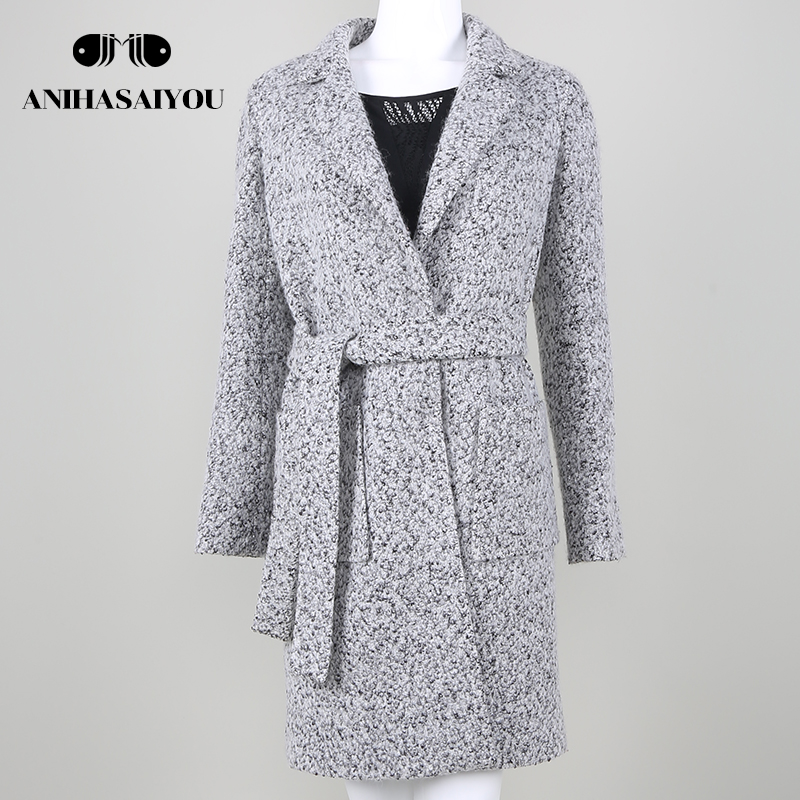 Hot Sale Woman Wool Coat High Quality Winter Jacket Women Slim Woolen Long Cashmere Coat ...