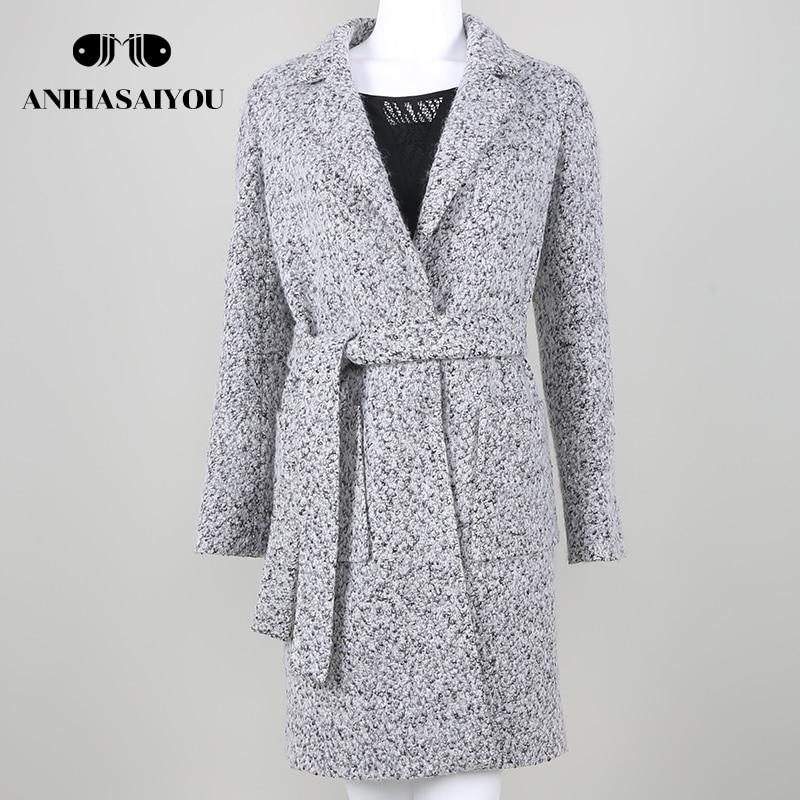 Hot Sale Woman Wool Coat High Quality Winter Jacket Women Slim Woolen Long Cashmere Coat ...