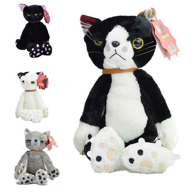 Новое Прибытие Kawaii 40 см Тамино Maita царапинам Cat Плюшевые Игрушки Прохладный Несчастный Котенок Черный/Белый/Серый цвет Cat Toy Подарки