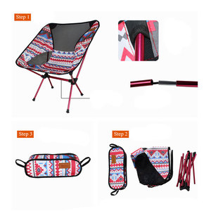 Image 4 - Ultralight Moon Chairs Portable Garden Al Chair Fishing The Director Seat Camping Removable Folding Furniture Indian Armchair