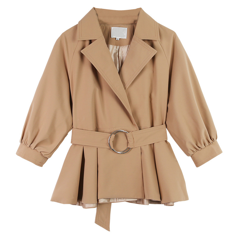 Elegante Frauen Frühling Herbst Kurzen Graben Mantel 2018 Neue Mode Gürtel Spiel Mantel Polerones Mujer Windjacke Weibliche Abrigo CM2220