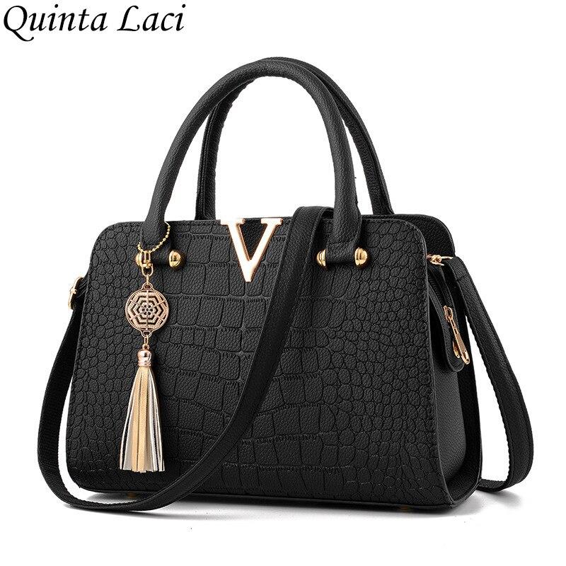 Quinta Laci Women Bag 2017 New Winter Bag Handbag Female Fashion Crocodile Bangalor Pu Leather Zipper Crocodile Pattern Handbags la quinta inn