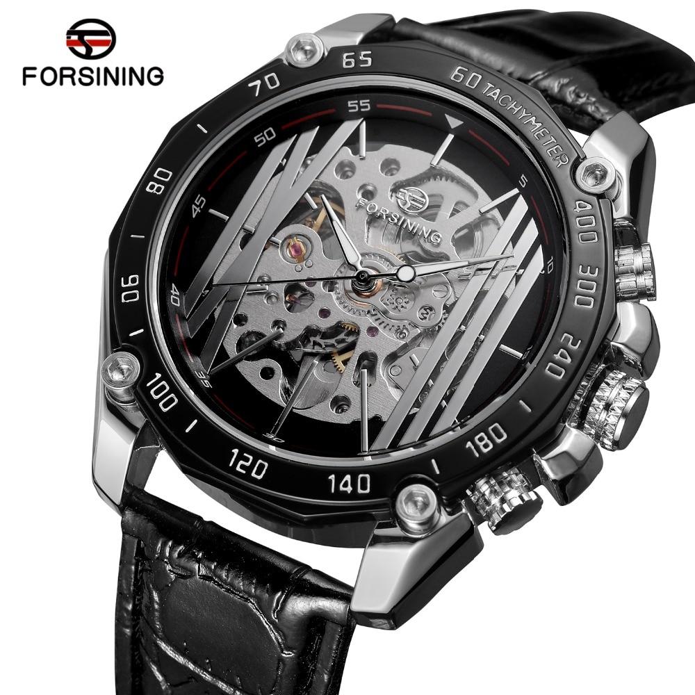 Watches Cool Steampunk Fashion Male Mechanical Wristwatch Dress Men Watch Top Brand Luxury Automatic Skeleton Watch Black Leather Band
