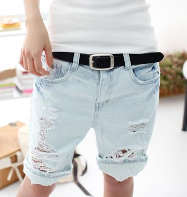 Korte Jeans Broek Dames.2015 Fashion Vrouwen Retro Amerikaanse Baggy Vriendje Korte Jeans
