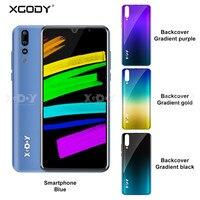 Новый мобильный телефон Xgody P30 Android 9,0 5,99 дюймов 2 Гб ОЗУ 16 Гб ПЗУ четырехъядерный процессор MT6580M двойная камера 3g смартфон celular