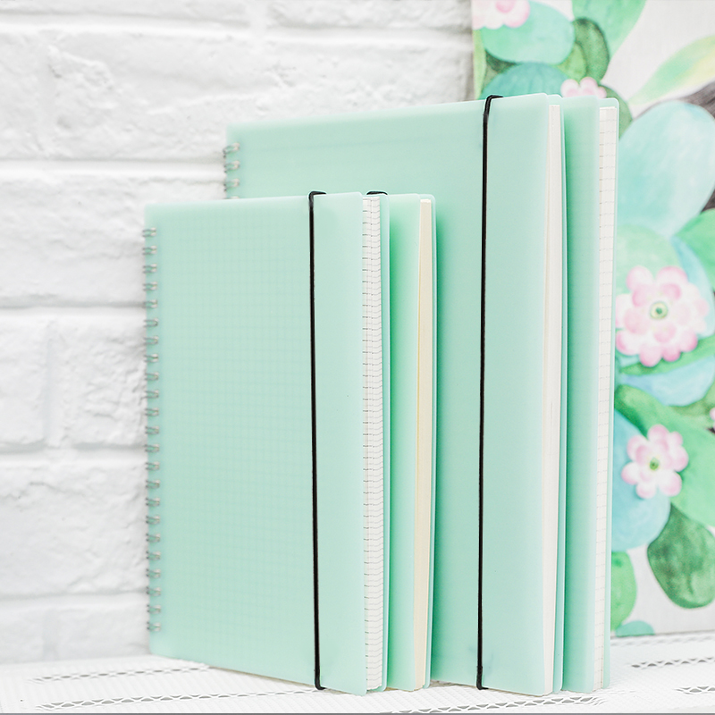 все цены на New A5/B5 notebook PP material grind arenaceous coil The stripes square blank notebook