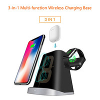 Universal Wireless Charging Charger Dock Holder Phone Stand Holder for Apple Watch Holder for Apple Airpods