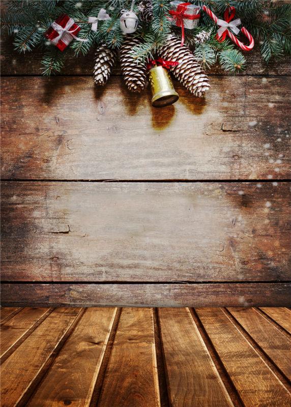 Christmas Photo Studio Wooden Floor Background Vinyl 5x7ft or 3x5ft  Baby Photography Backdrops Child JieQX487 photography backdrops christmas gifts wooden floor photo studio props baby background vinyl 5x7ft or 3x5ft jiesdx098