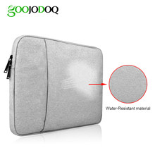 GOOJODOQ WaterProof Tablet Sleeve Handbag Case for iPad Pro 12.9 2017 2018 2016 2015 for Apple MacBook Air 13 Pro 13 Case 13inch(China)