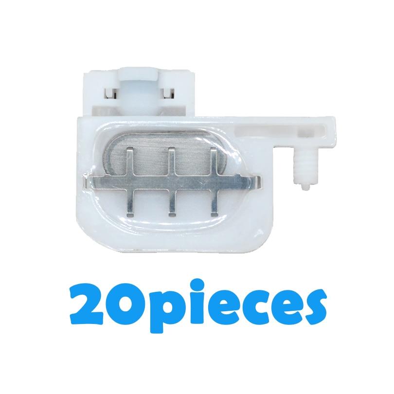 20 piezas cabeza de tinta pequeños amortiguador Cabeza Cuadrada para Epson R1800 1900, 1390, 2400, 1100 DX4 DX5 impresoras Eco solvente roland Mutoh Mimaki