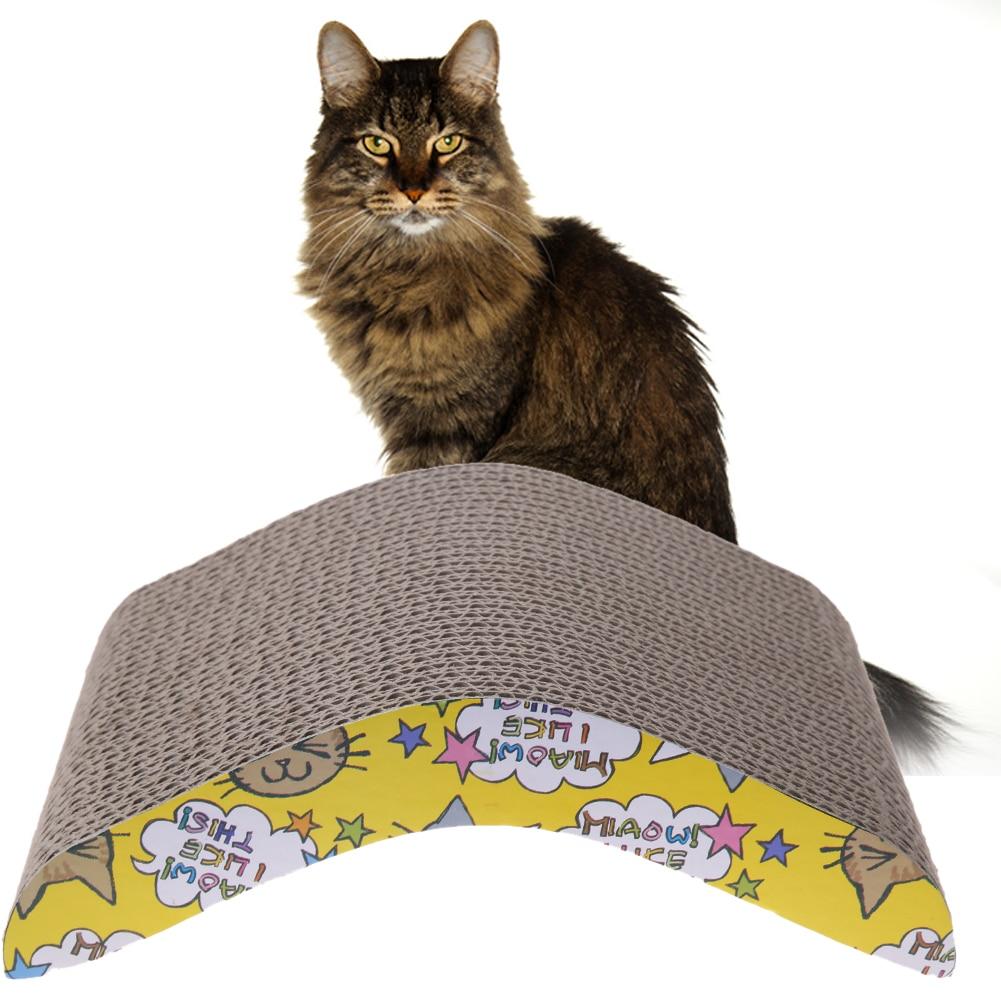 Cat Scratching Corrugated Board Pet Cat Scratch Bed Scratching Board Durable Double-sided Pet Cat Kitten Scratch Seize Mat