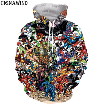 Latest Harajuku style Anime Superhero Batman Superman hoodie men/women 3D print sweatshirts Long sleeves hip hop streetwear tops