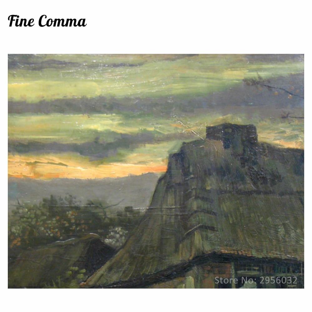 Vikendica De Hut 1885. Vincent van Gogh Ručno oslikana slika uljem - Kućni dekor - Foto 2