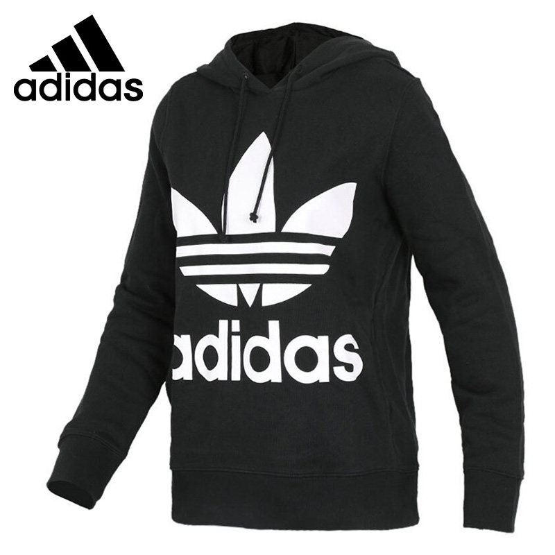 Original New Arrival Official Adidas Originals TREFOIL HOODIE Women's Breathable Pullover Hoodies Sportswear Good Quality CE2408 купить в Москве 2019