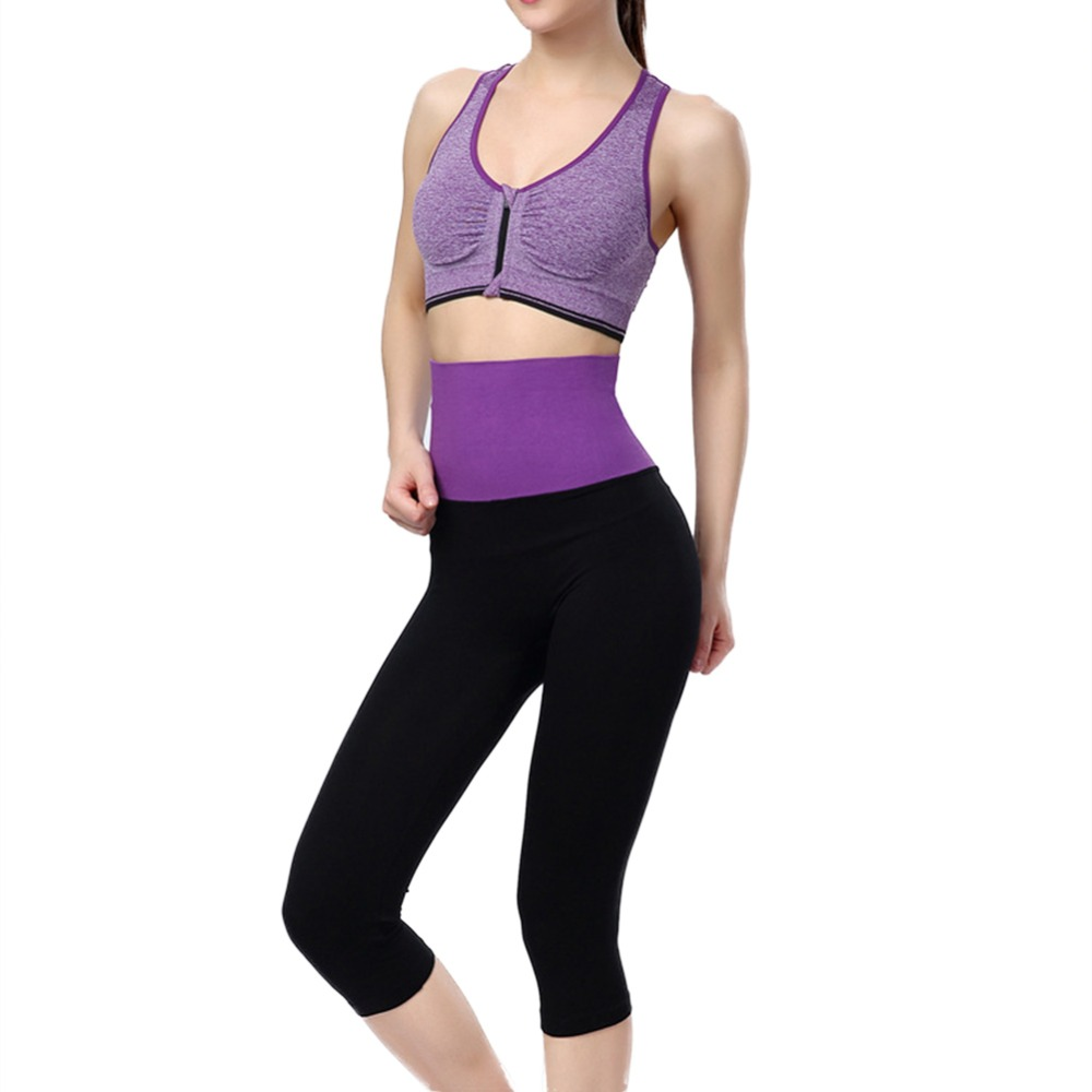 Women Yoga Sports Stretch Fitness Jogging Cropped Slim Leggings Pants NewN