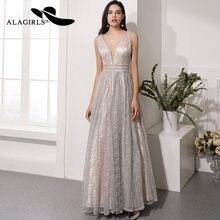 Alagirls женское платье для выпускного вечера длиной до пола