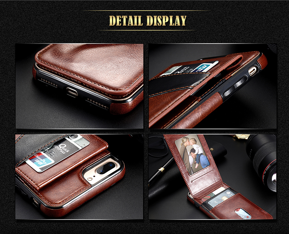 add picture and credit cards to this leather phone case