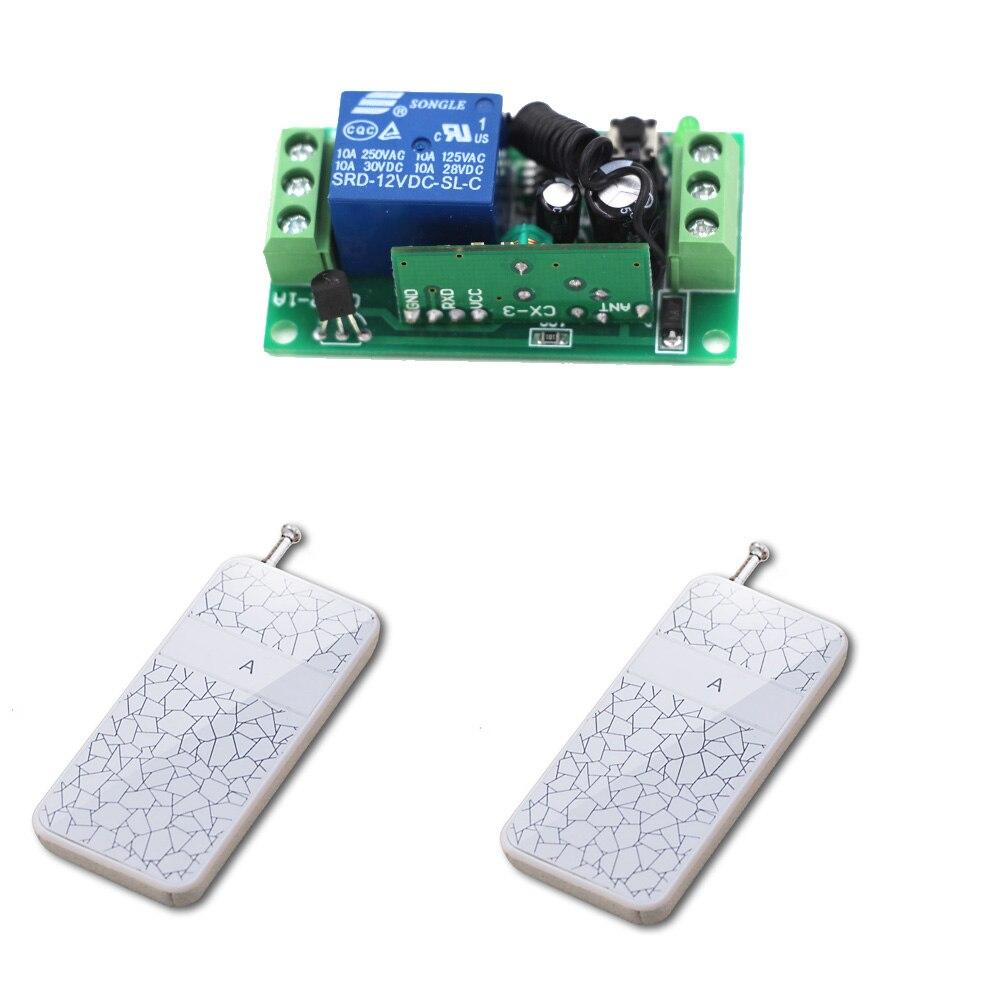 Wireless Remote Switch DC9V 24V RF Remote Control Switch System Radio Controller Plug 1 CH 1Channel Receiver + 2Transmitter