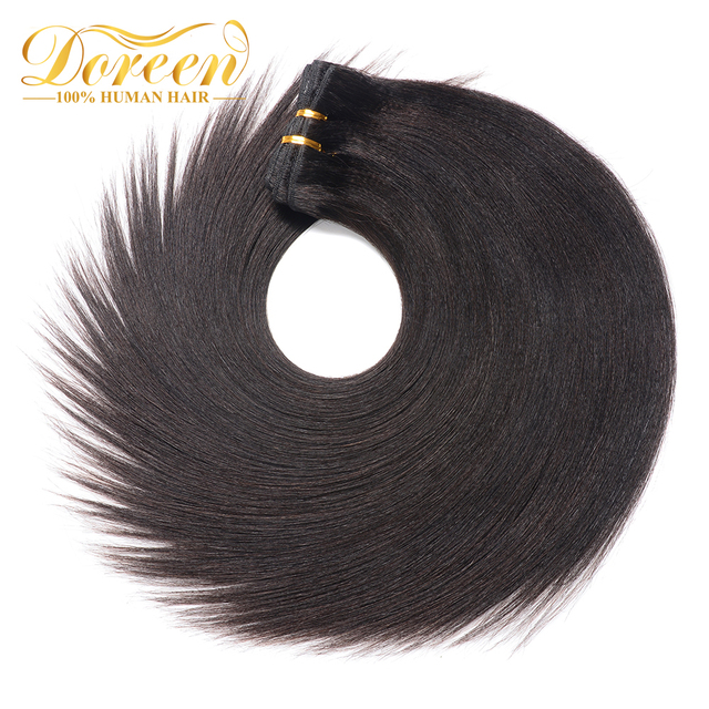 Doreen Clip In Human Hair Extensions Double Drawn Brazilian Remy